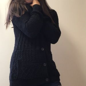 Coincidence & chance black chunky knit sweater S